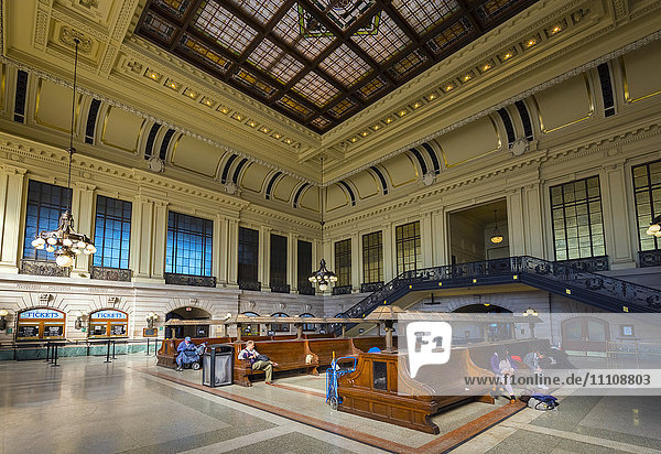 Waiting room  Hoboken Terminal Railway Station  Hoboken  New Jersey  United States of America  North America