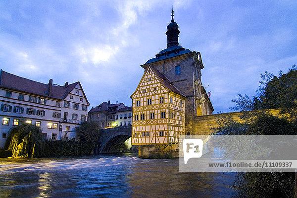 Altes Rathaus  Bamberg  Franken  Bayern  Deutschland  Europa