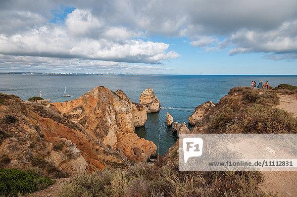 Europe  Portugal  Algarve Region  Lagos  Ponta da Piedade