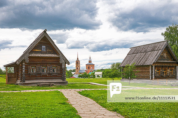 Russia  Suzdal  old wooden architectures