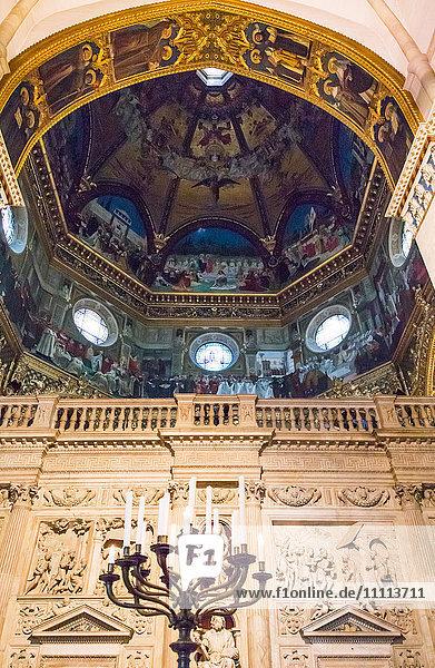 Italy  Marche region  Loreto  the Sanctuary of the Santa Casa  the decorations of the Basilica interior