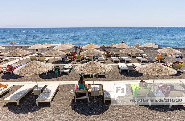 Greece  Cyclades  Santorini island  Kamari beach