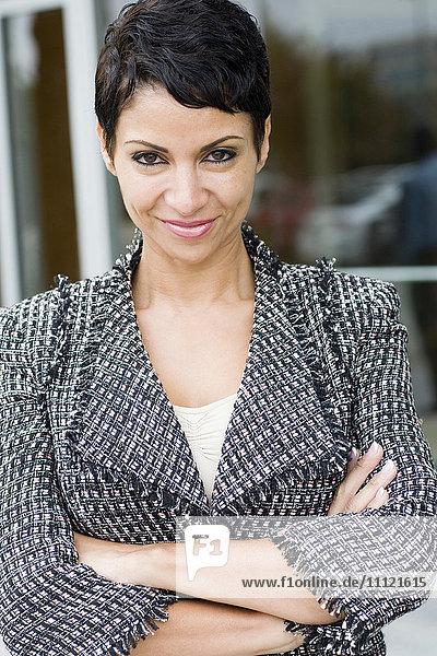 Cape Verdean businesswoman smiling