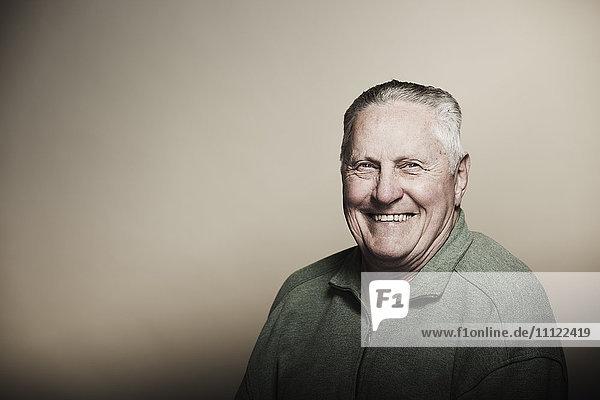 Smiling senior Caucasian man Smiling senior Caucasian man