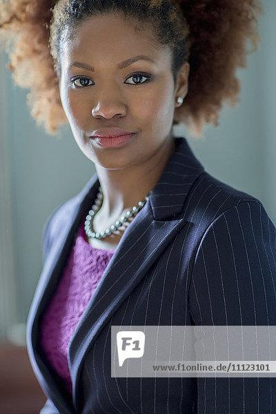 Black businesswoman in office