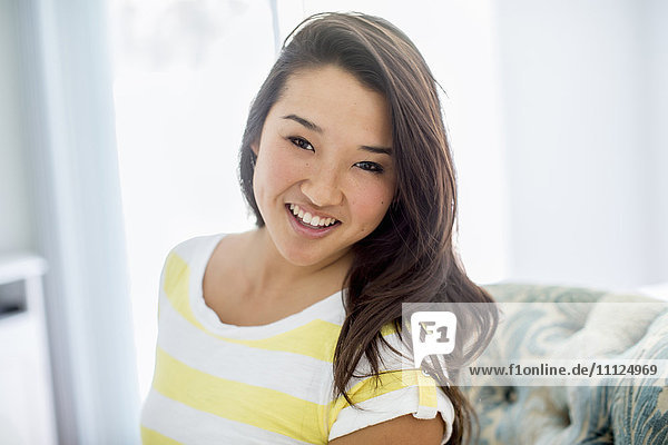 Japanese woman smiling
