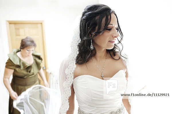 Egyptian bride in wedding dress
