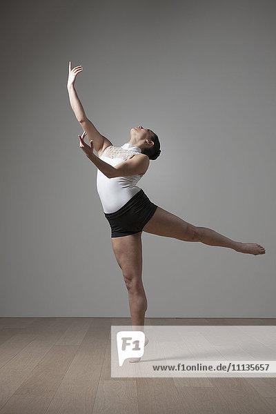 Graceful Caucasian ballet dancer