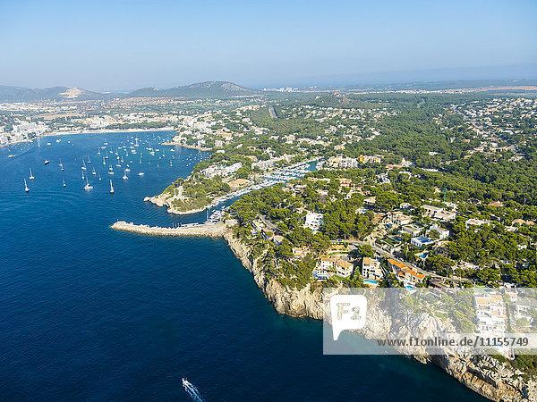 Spanien  Mallorca  Luftaufnahme von Santa Ponca