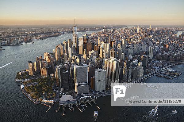 USA  New York  Aerial photograph of New York City and Manhattan Island