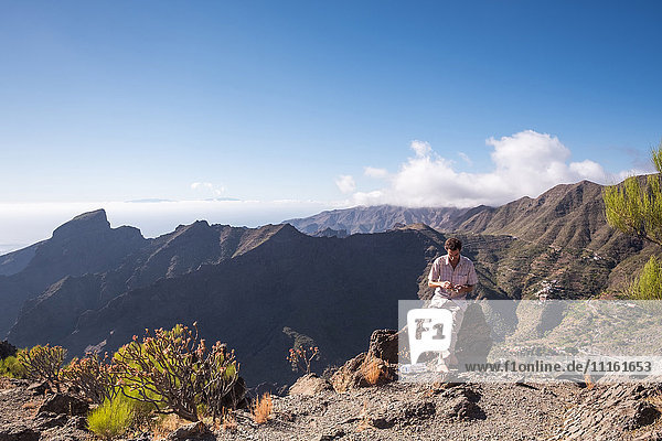Spanien  Teneriffa  Teno-Gebirge  Masca  Trekking