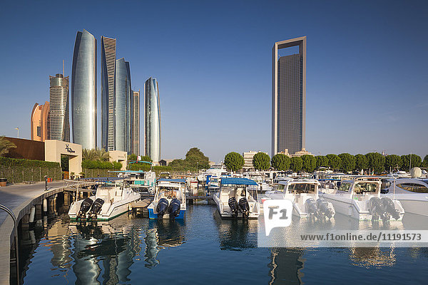 UAE  Abu Dhabi  Etihad Towers and ADNOC Tower