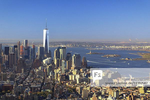 USA  New York  New York City  Manhattan  Empire State Building Observatory
