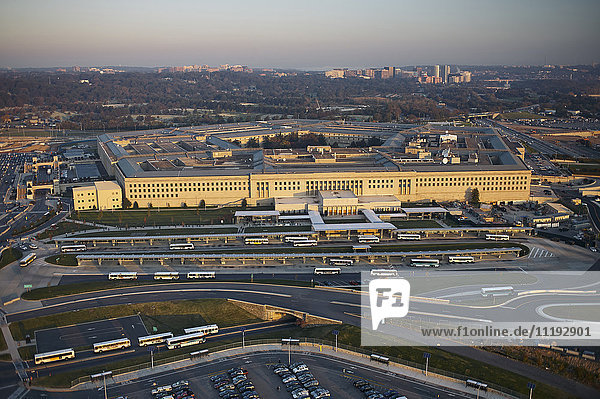 USA  Virginia  Arlington  Aerial photograph of the Pentagon