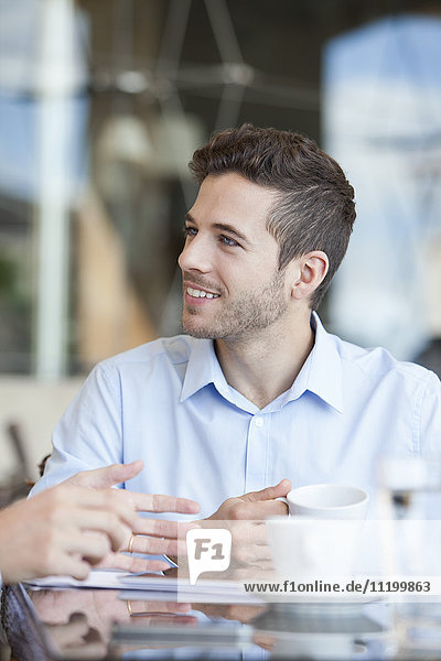 Geschäftsleute bei der Kaffeepause