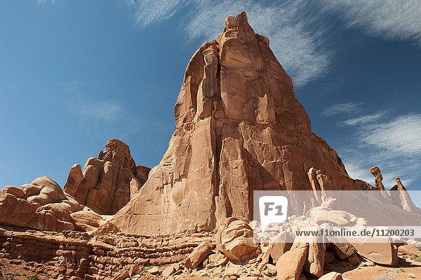 Felsformation im Arches Nationalpark  Utah  USA