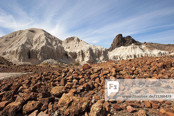 Felsenlandschaft im Big Bend National Park  Texas  USA
