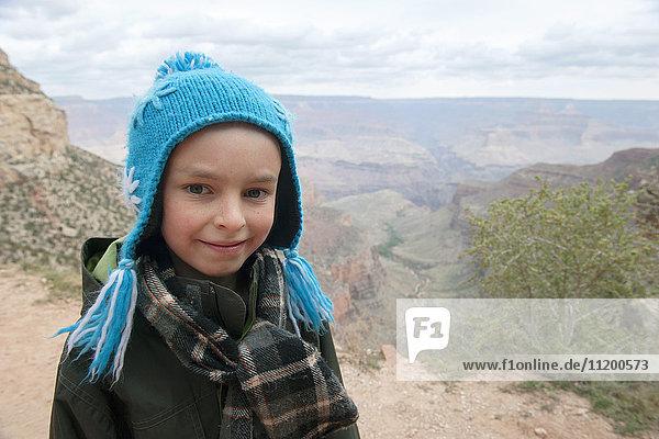 Boy at the Grand Canyon  Arizona  USA