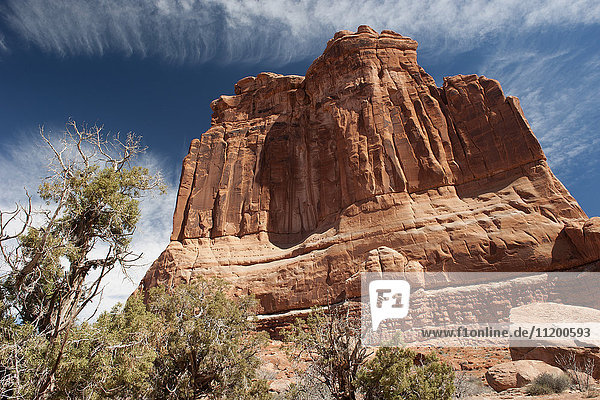 Butte im Arches Nationalpark  Utah  USA