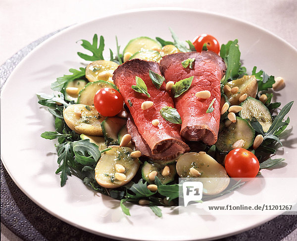 Beef and anchovy salad