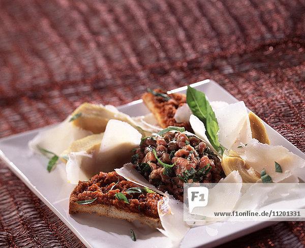 Italian-style raw beef salad