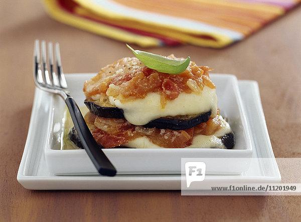 Italian-style eggplant gratin