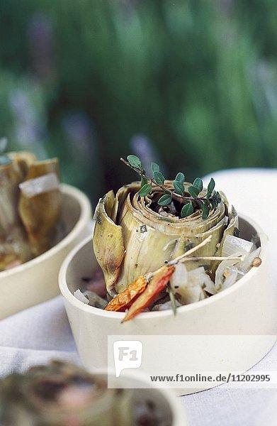 Artichokes in barigoule sauce