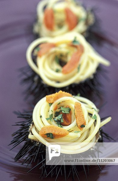 Spaghettis with urchins