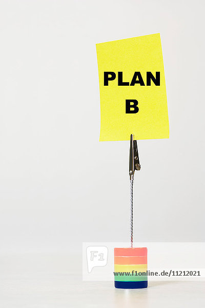 Reminder note saying plan b