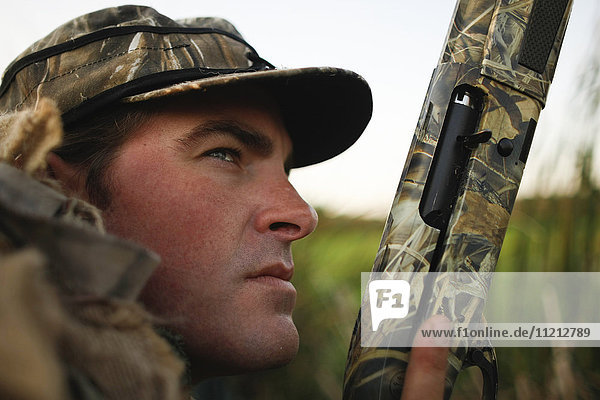 Close up of Waterfowl Hunter
