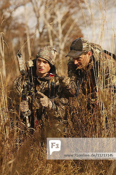 Father Coaches Son On Tracking A Blood Trail