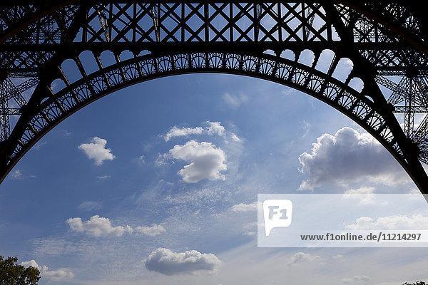 'Base of Eiffel Tower; Paris  France'