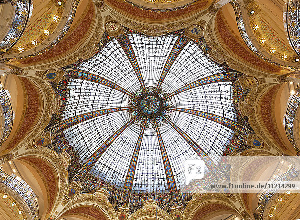 'Interior of the Dome at Galeries Lafayette; Paris  France'