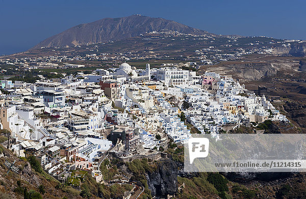 'Cityscape of Fira; Fira  Santorini  Greece'
