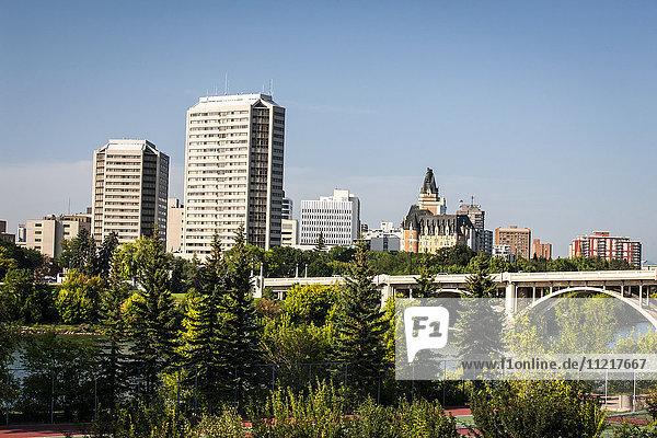 'Skyline of Saskatoon; Saskatoon  Saskatchewan  Canada'