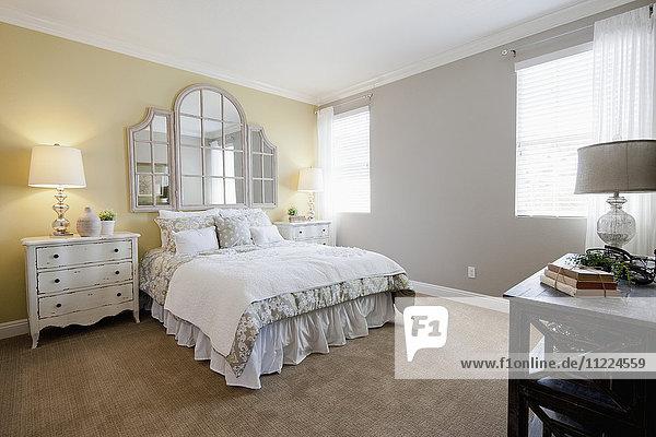 Interior of tidy bedroom