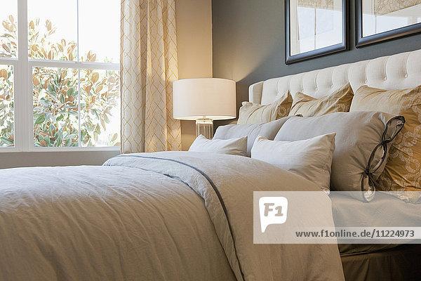 Interior of domestic bedroom