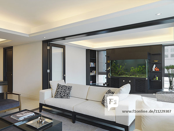 White sofa in modern home