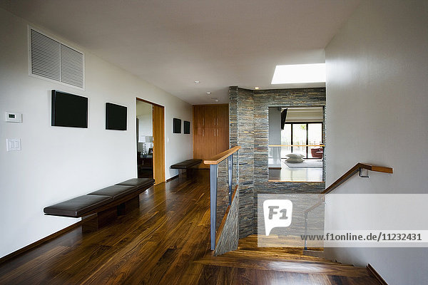 Modern House with Hardwood Floors