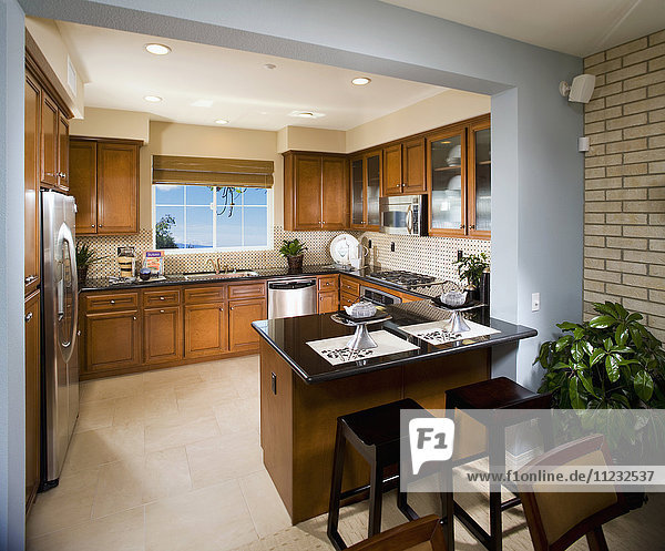 Interior of contemporary kitchen