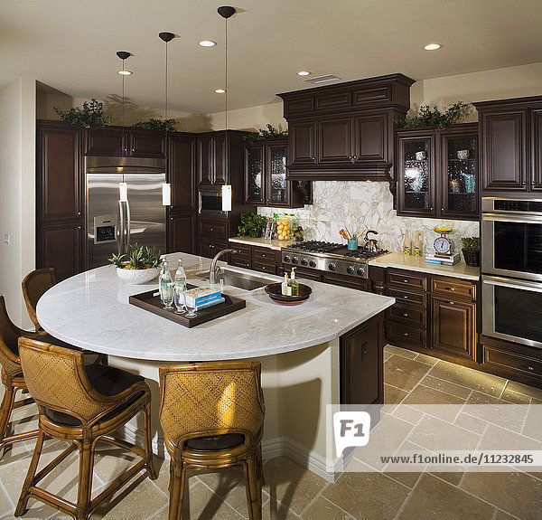 Interior of a contemporary kitchen