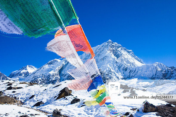 Gebetsfahnen  Mount Everest Trek  Nepal