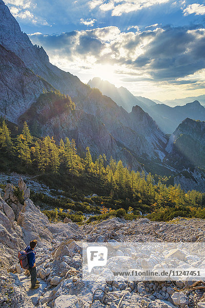 Berglandschaft  Nationalpark Gesäuse  Steiermark  Österreich  Europa