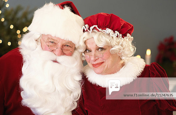 Portrait of Santa and Mrs. Claus