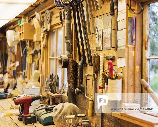 Interior of carpentry workshop