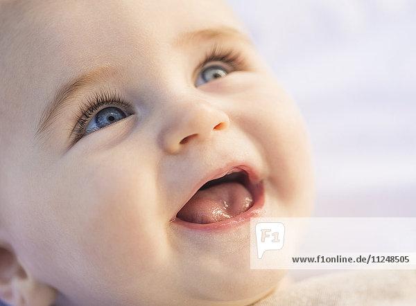 Portrait of laughing baby boy (6-11 months) Portrait of laughing baby boy (6-11 months)