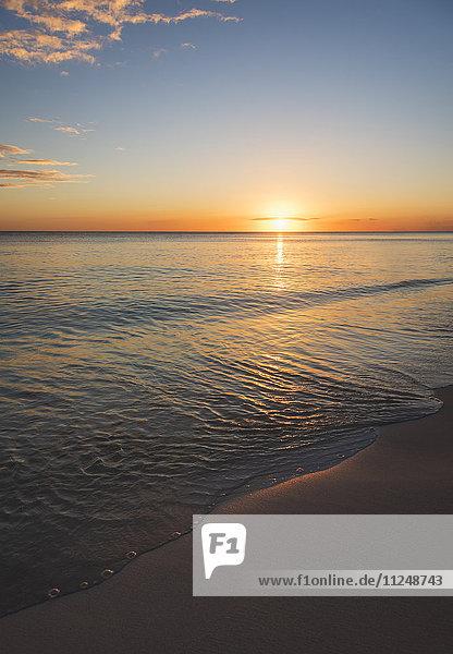 Romantic sunset over sea Romantic sunset over sea