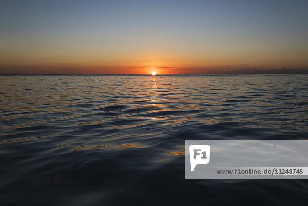 Romantic sunset over sea