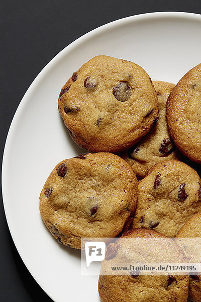 Baked chocolate cookies on plate