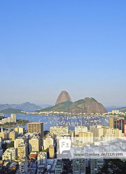 Brazil  City of Rio de Janeiro  View over Botafogo Neighbourhood towards the Sugarloaf Mountain.